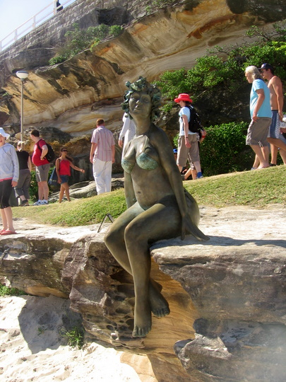 Bronze women at Tamarama Beach
